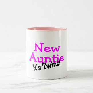 New Auntie Its Twins Two-Tone Coffee Mug