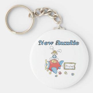 New Auntie of Baby Boy Keychain