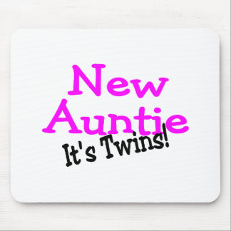 New Auntie Of Twins Mousepad
