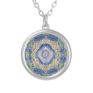 New awaken chakra Version, reiki, healing, chakra Silver Plated Necklace
