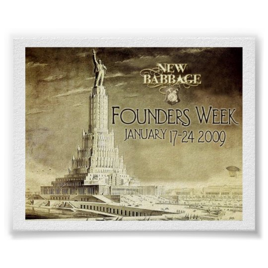 New Babbage Founders Week Commemorative Poster