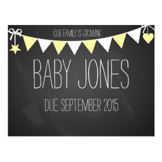 New baby announcement baby photo prop post cards