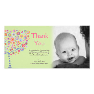 New Baby Arrival Gift Thank You Photocard Photo Card