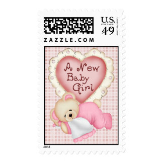 New Baby Bear Girl Stamp