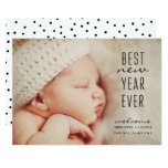 New Baby Best New Year Ever Modern Holiday Photo Invitation