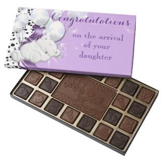 New baby birth cute bear 45 piece box of chocolates