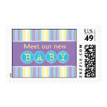 New baby blue postage stamp