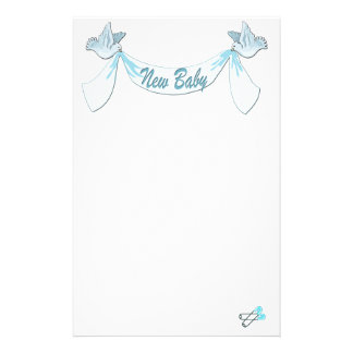 New Baby Blue Stationery