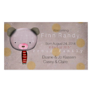 New Baby Born Business Card Templates
