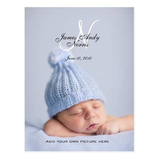 baby announcement postcards