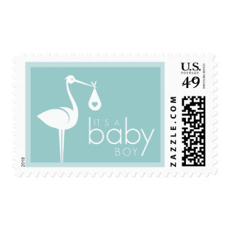 New Baby Boy Announcement stamps