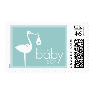 New Baby Boy Announcement stamps stamp