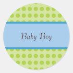 New Baby Boy Announcement Sticker