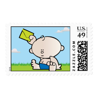 New Baby Boy Birth Announcement Postage Stamp