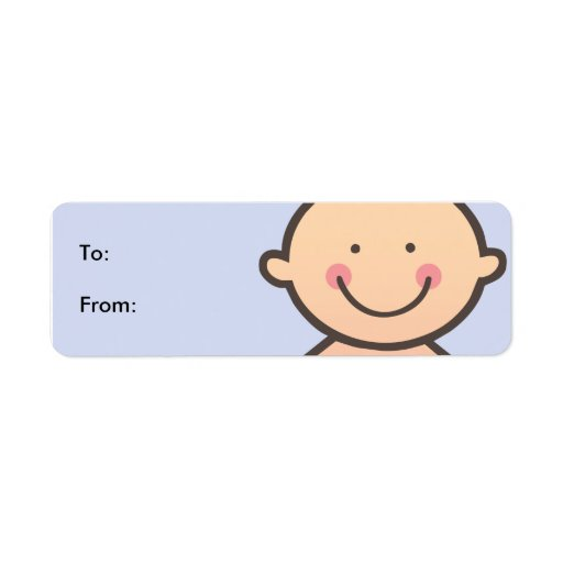New Baby Boy Blue Gift Tag Labels | Zazzle
