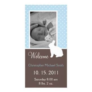 New Baby Boy Custom Announcement Photo Cards