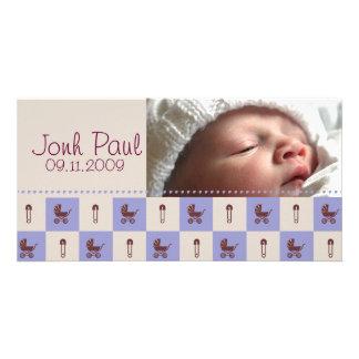 New Baby Boy - Customized Photo Card