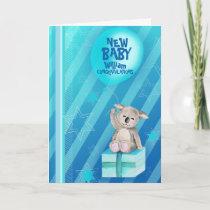 New baby boy Keddy Koala Card Blue