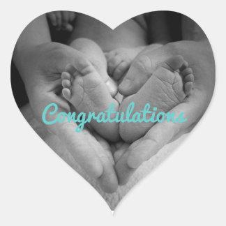 New Baby Boy Loverheart Stickers