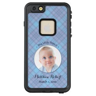 New Baby Boy My Little Prince Blue Plaid LifeProof® FRĒ® iPhone 6/6s Plus Case