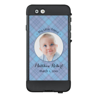 New Baby Boy My Little Prince Blue Plaid LifeProof® NÜÜD® iPhone 6 Case
