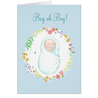 New Baby Boy Note Card