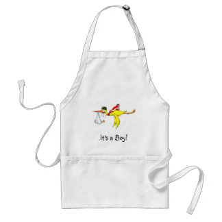 New baby boy Peeing on the stork! Adult Apron