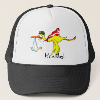 New baby boy Peeing on the stork! Trucker Hat