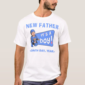 New Baby Boy Personalized New Father T-Shirt