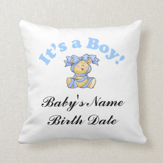 New Baby Boy Throw Pillow