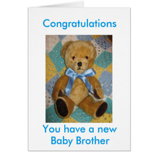 New baby brother card
