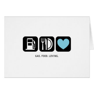 New Baby Card: Gas-Food-Loving (Boy)