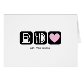 New Baby Card: Gas-Food-Loving (Girl) Greeting Card
