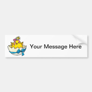 New Baby Chick Bumper Sticker