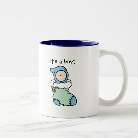 New Baby Christmas Keepsake Mug (Boy)