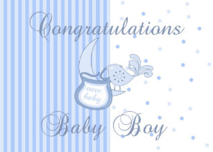 new baby congratulations new baby boy card