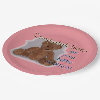 New Baby Congratulations Paper Plate