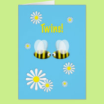 New Baby Congratulations Twins Boys Card