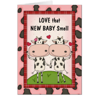New Baby - Cows for New Parents Card