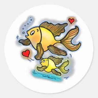 New Baby Fish Classic Round Sticker