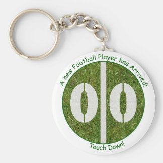 New Baby Football Player Arrival Basic Round Button Keychain