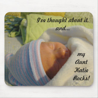 "New Baby gifts mousepads My Aunt ""Name"" Rocks"