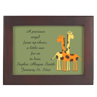 New Baby Giraffe Keepsake Box