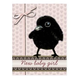New baby girl announcement postcard