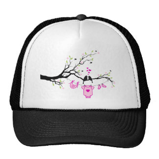 new baby girl, baby shower design mesh hat