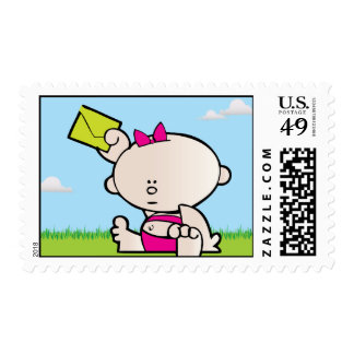 New Baby Girl Birth Announcement Postage Stamp