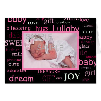New Baby Girl Stationery Note Card
