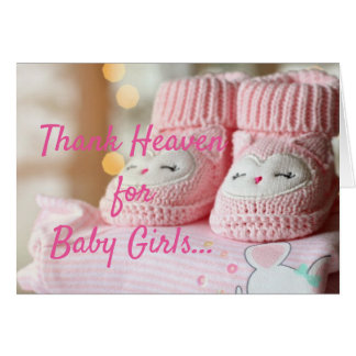 New baby girl card, congratulations card
