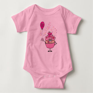 New baby girl cupcake infant creeper