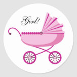 New baby girl envelope stickers